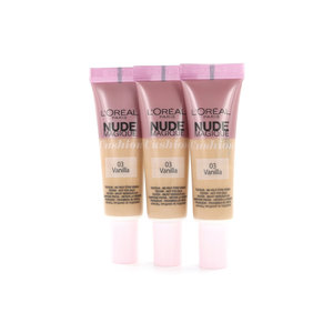 Nude Magique Cushion Dewy Glow Foundation - 03 Vanilla (Testers 3 x 8 gr)
