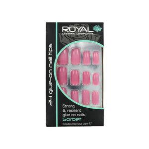 24 Glue-On Nail Tips - Sorbet (Mit Nagelkleber)