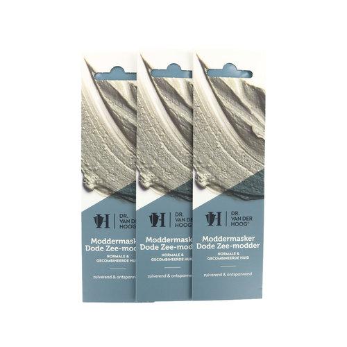 Dr. van der Hoog Schlammmaske Schlamm aus dem Toten Meer - Normale und Mischhaut (3 Stück)