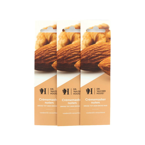 Dr. van der Hoog Cream Mask Nuts - Trockene bis sehr trockene Haut (3 Stück)