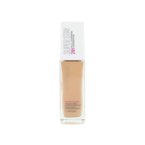 Maybelline SuperStay 24H Full Coverage Foundation - 21 Nude Beige