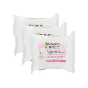 SkinActive Reinigungstücher (3 Stück - Für normale bis trockene Haut)
