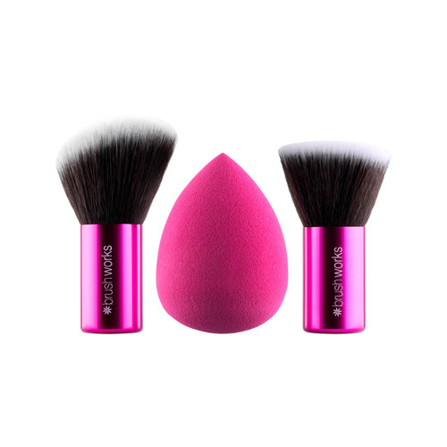 Brushworks HD Complexion Sponge & Kabuki Brush Set