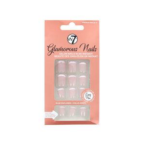 Glamorous Nails - French Nails 01 (Mit Nagelkleber)
