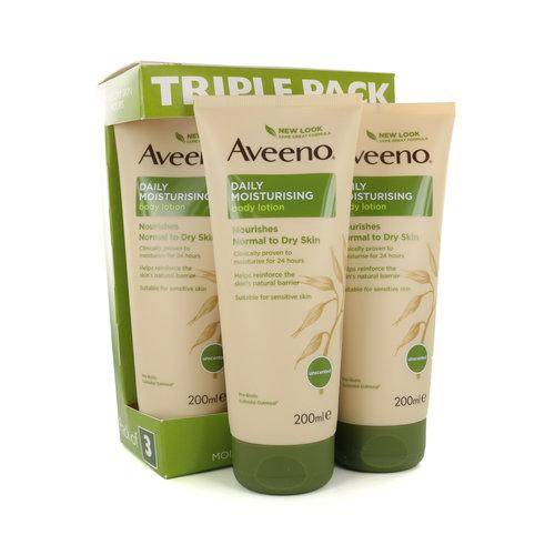 Aveeno Daily Moisturising Lotion Triple Pack - 3 x 200 ml (Für Normale bis trockene Haut)