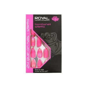 24 Glue-On Nail Tips - Bombshell