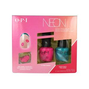 Neon Collection Geschenkset - Festival French Nail Art