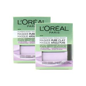 Pure Clay Maske - 2 x 50 ml (Satz von 2 Stück)