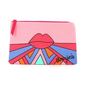 Pink Lips Kulturbeutel - 24,5 x 15,5 cm