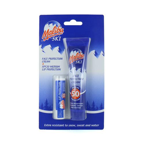 Malibu Ski Face Protection Cream + Lip Protection