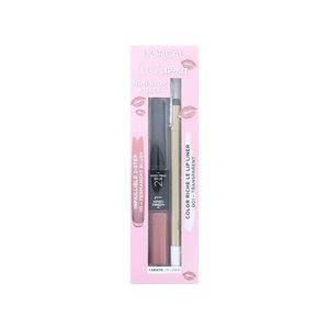 Non-Stop Kisses Lip Kit - 111 Permanent Blush - 001 Transparent (0)