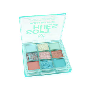 Soft Hues Pressed Pigment Lidschatten Palette - Aquamarine