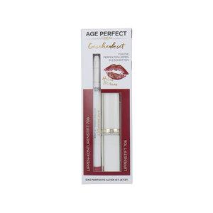 Age Perfect Lipstick + Lipliner Geschenkset - 706 Perfect Burgundy