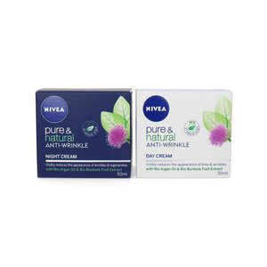 Pure & Natural Anti-Wrinkle Day And Night Cream - 2 x 50 ml