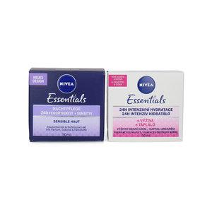Essentials 24H Intense Hydration Day & Night Cream - 2 x 50 ml (Satz von 2 Stück)
