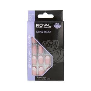 24 Glue-on Nails - Fairy Dust