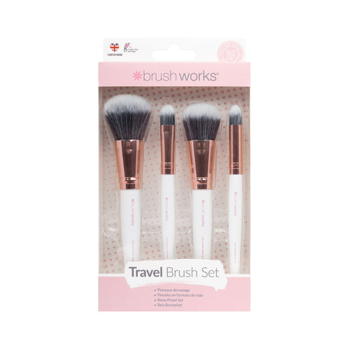 Brushworks Travel Makeup Brush Set - White