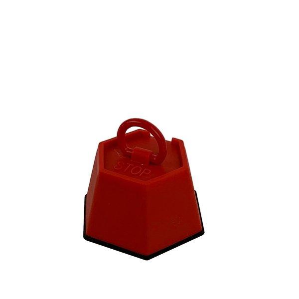 Deurstopper plastic stop rood