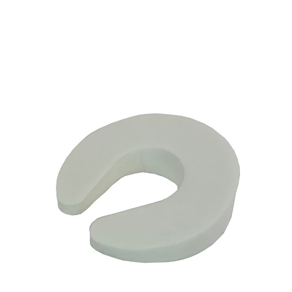 Deurwig en vingerbeschermer wit