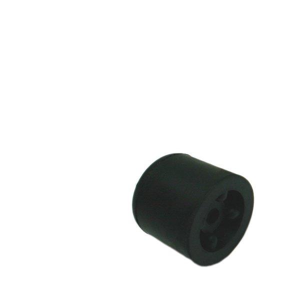 Deurbuffer rubber 25mm zwart