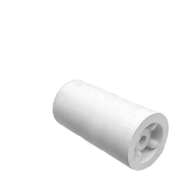Deurbuffer rubber 75mm wit