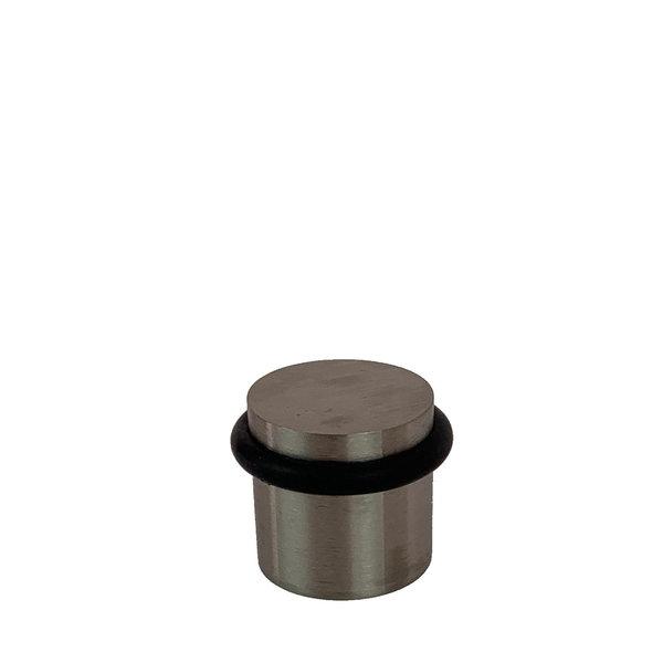 Deurbuffer vloer geborsteld RVS 30mm