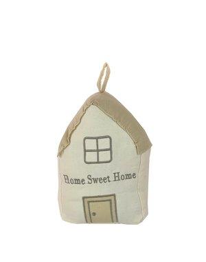 Stoffen deurstopper stof huis beige