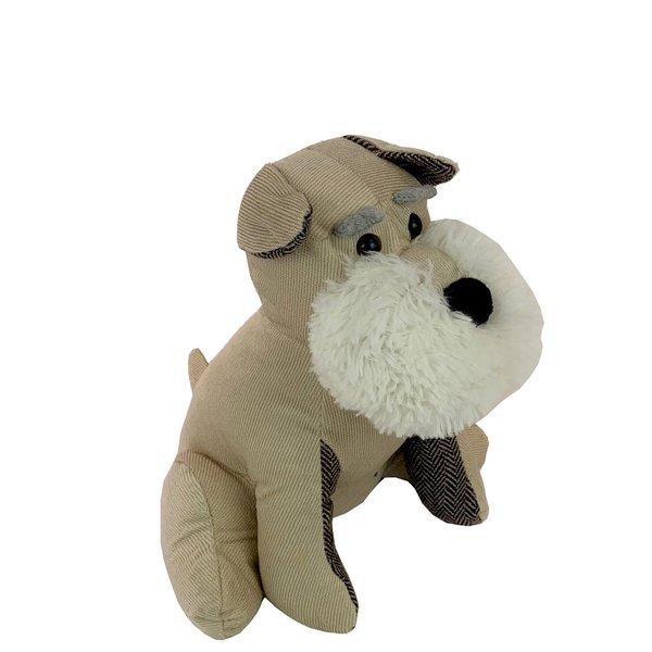 Beige hond met witte baard deurstopper