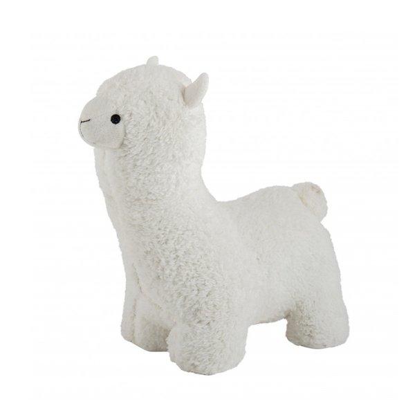 Witte Alpaca deurstopper