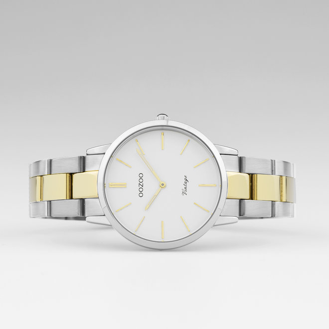 The Next Generation - unisex - stainless steel bracelet silver-gold with silver watch case