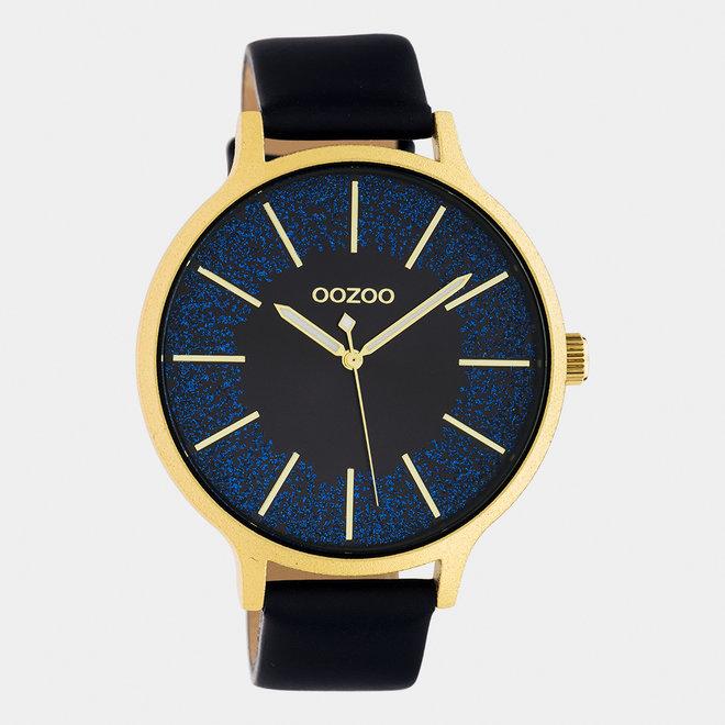 OOZOO Timepieces - femmes - bracelet en cuir bleu foncé / or
