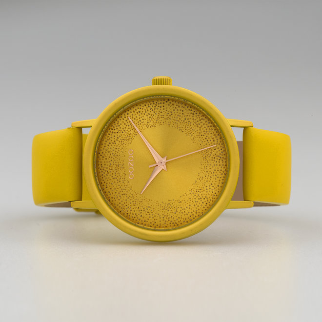 OOZOO Timepieces - ladies - leather strap mustard with mustard watch case