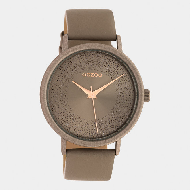 OOZOO Timepieces - ladies - leather strap taupe / taupe