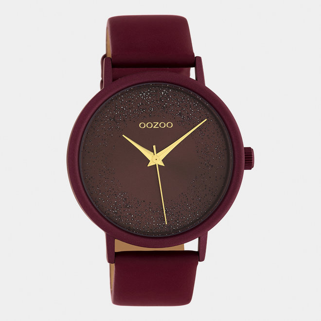 OOZOO Timepieces - ladies - leather strap biking red / biking red
