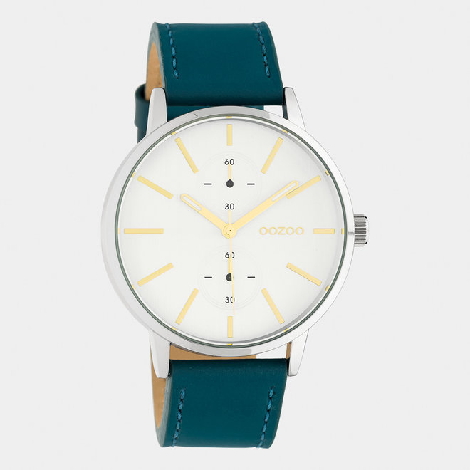 OOZOO Timepieces - unisex - leather strap viridian green / silver
