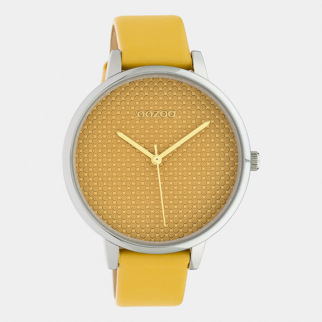 OOZOO Timepieces - ladies - leather strap mustard / silver