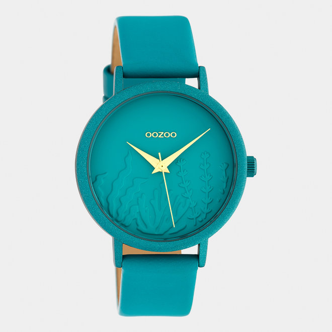 OOZOO Timepieces - ladies - leather strap viridian green with viridian green watch case