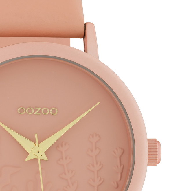 OOZOO Timepieces - ladies - leather strap soft pink with soft pink watch case
