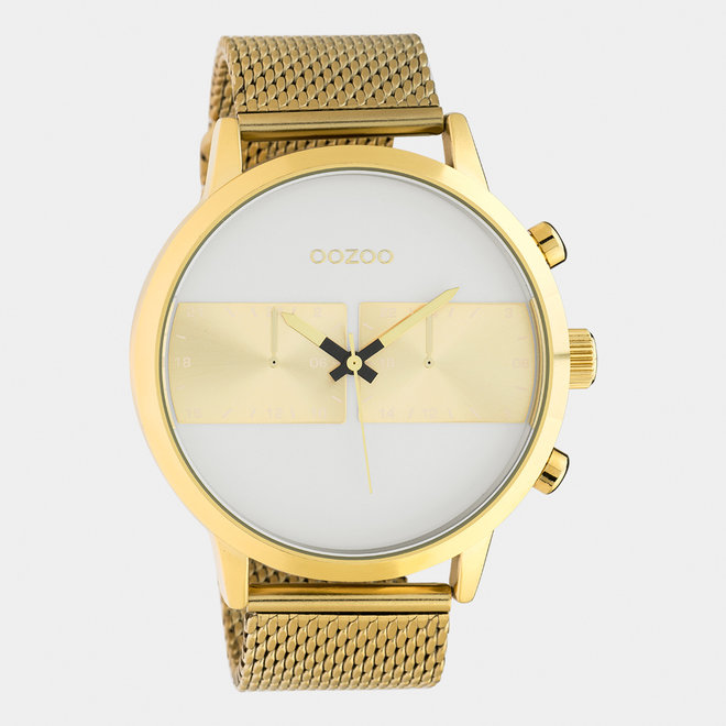 OOZOO Timepieces - gents - mesh strap gold / gold