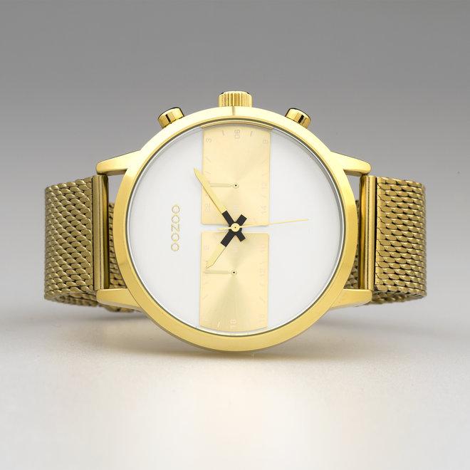 OOZOO Timepieces - hommes - bracelet en mesh or met or horlogekast