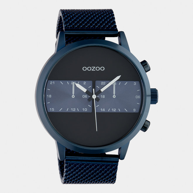 OOZOO Timepieces - hommes - bracelet en mesh bleu / bleu