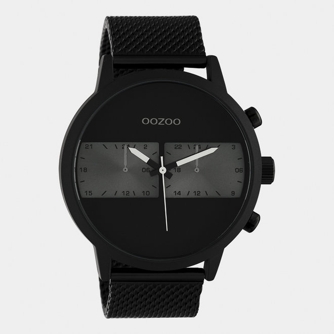 OOZOO Timepieces - heren - mesh band zwart / zwart