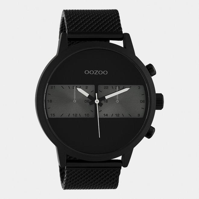 OOZOO Timepieces - hommes - bracelet en mesh noir / noir