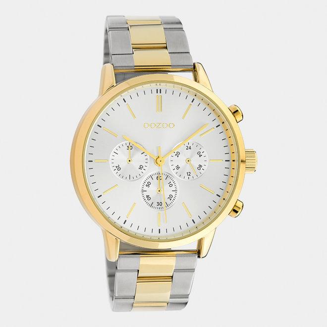 OOZOO Timepieces - unisexe - bracelet en stainless steel argent-or / or