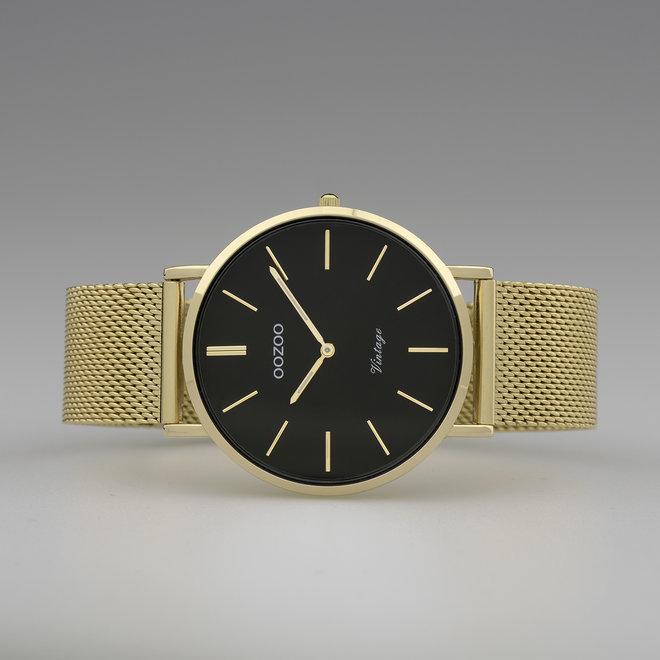 Vintage series - unisexe - bracelet en mesh or avec or
