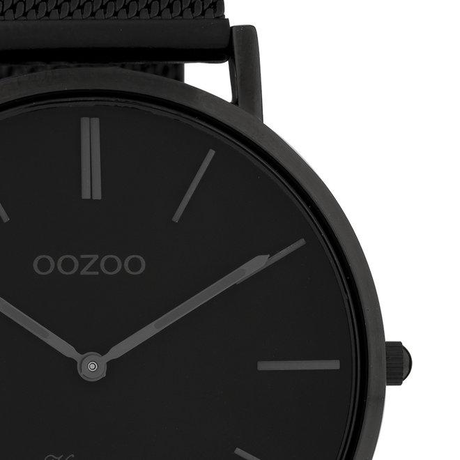 Vintage series - unisex - mesh strap black  with black  watch case