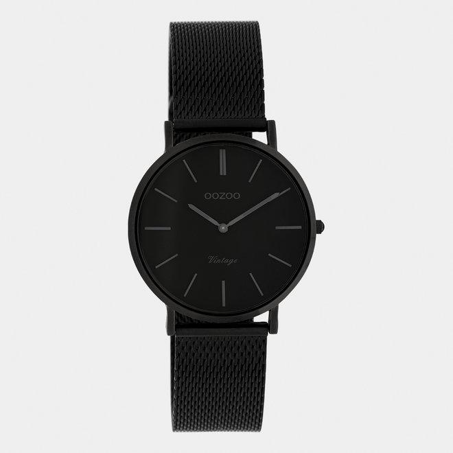 Vintage series - unisex - mesh strap black  / black