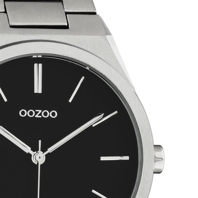 OOZOO Timepieces - unisex  - stainless steel bracelet silver  with silver  watch case