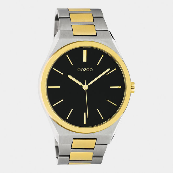OOZOO Timepieces - unisex  - stainless steel bracelet silver-gold / silver-gold