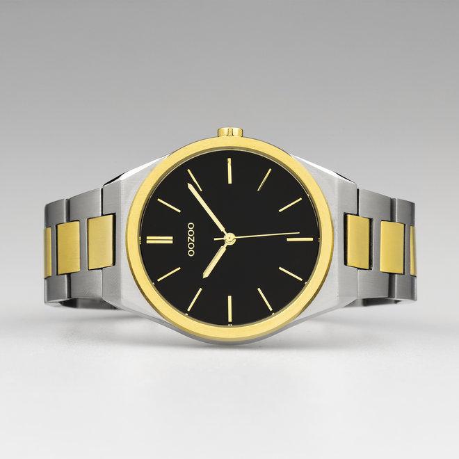 OOZOO Timepieces - unisexe - bracelet en stainless steel argent-or met argent-or horlogekast